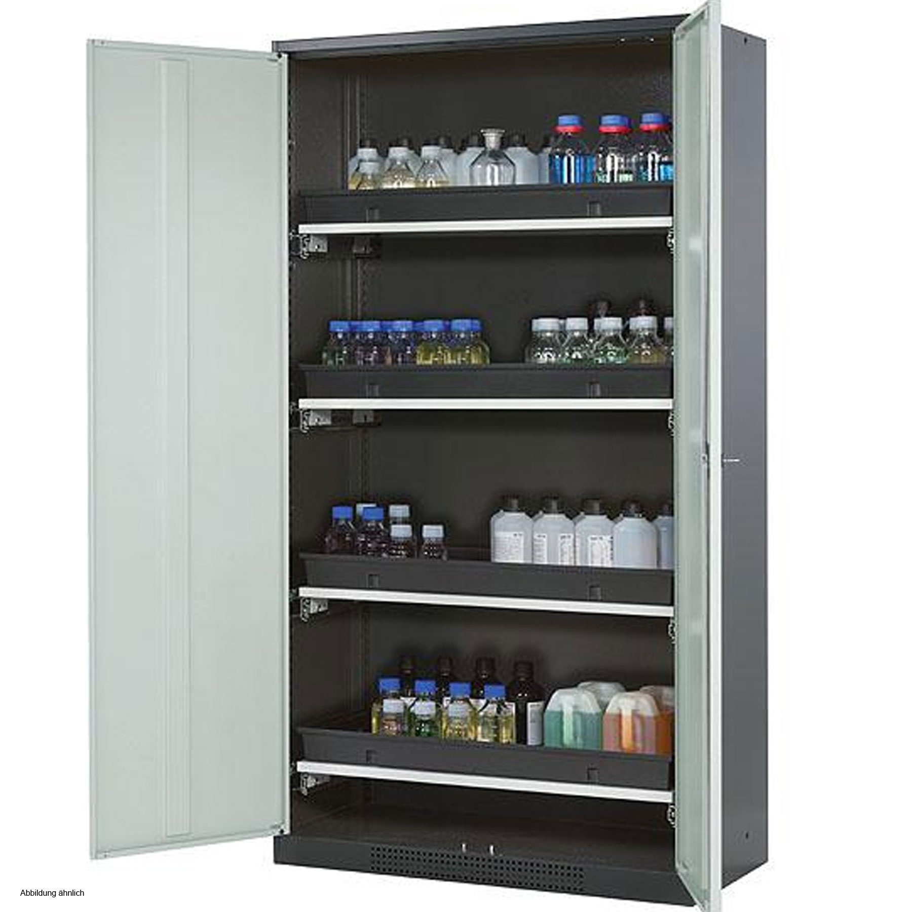 asecos Chemical Storage Cabinet CS-CLASSIC, 105 cm, height ...