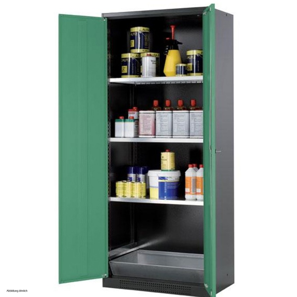 Asecos Chemical Storage Cabinet CS-CLASSIC, 81 Cm, Height