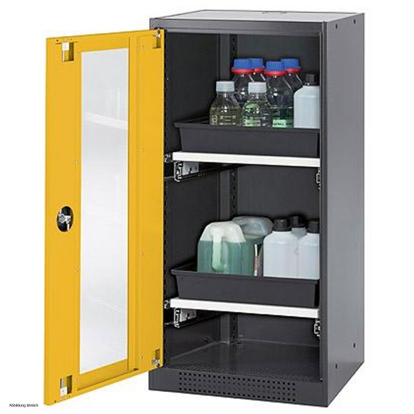 Nice Asecos Chemical Storage Cabinet CS CLASSIC G, 54 Cm, Height 110 Cm, Left  Hinged Door